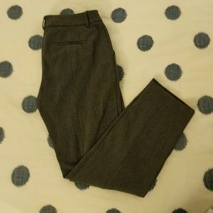 Gray Express Mid-Rise Columnist Ankle Pants